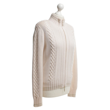Escada Knitted twin set in beige