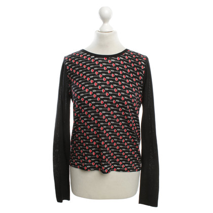 Diane von Furstenberg top with heart pattern