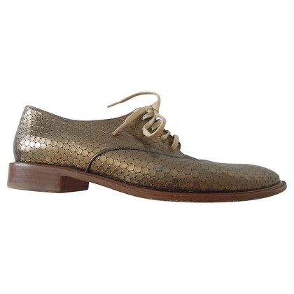 Robert Clergerie Scarpe stringate in oro