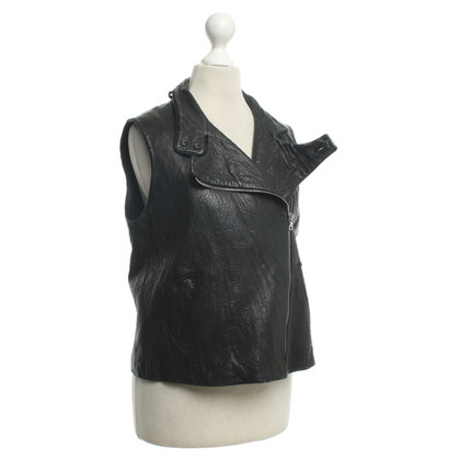 Alexander Wang Leather vest in black