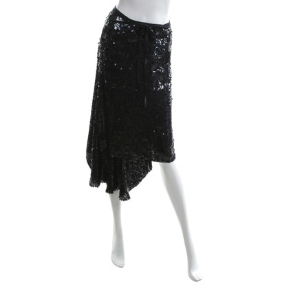 Ann Demeulemeester Avvolgere gonna con finiture in paillettes