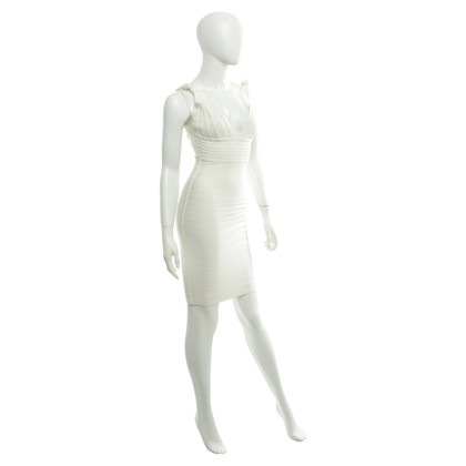 Hervé Léger Bodycon dress in cream