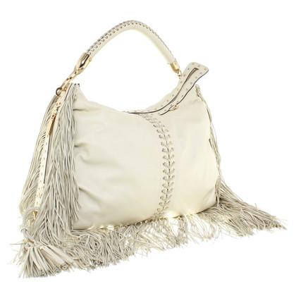 Gianni Versace Shoulder bag with fringe decor