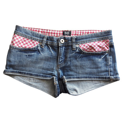 Dolce & Gabbana Short jeans with a vichy pattern