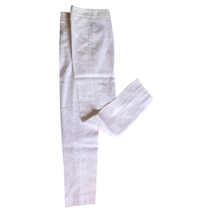 Armani White linen trousers