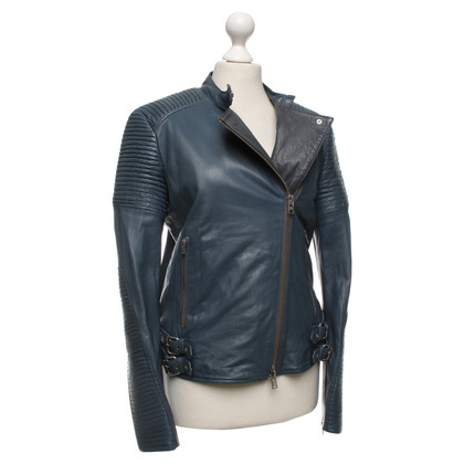 Closed Leather jacket in petrol