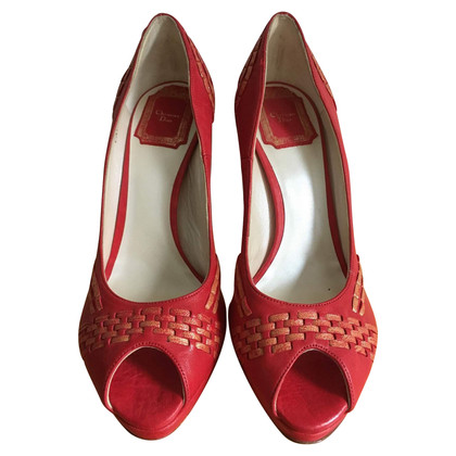 Christian Dior Peeptoes in red