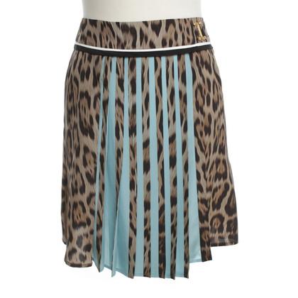 Roberto Cavalli Geplooide rok met luipaard print