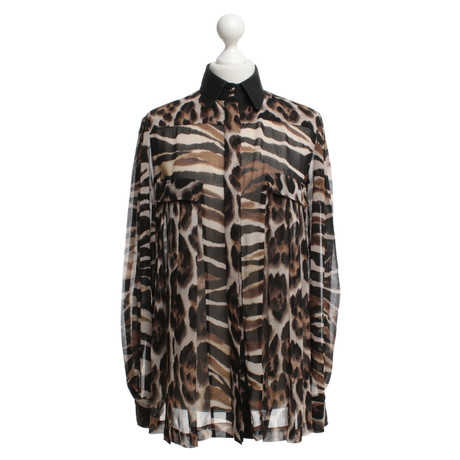 Just Cavalli Bluse mit Leopardenmuster Bunt / Muster