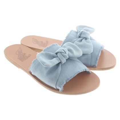 Ancient Greek Sandals Slipper met denimdetails
