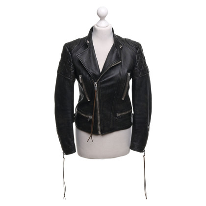 Yves Saint Laurent Leather jacket in used look