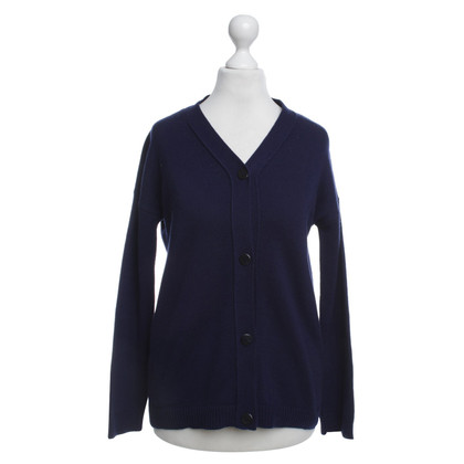 Jil Sander Cashmere cardigan in dark blue