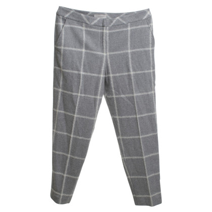 Hobbs Checkered trousers in grey / white
