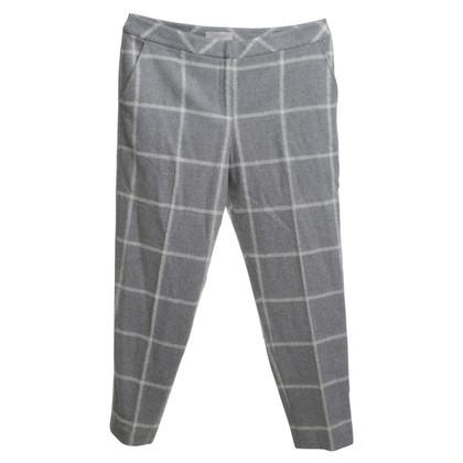 Hobbs Geruite broek in grijs / wit