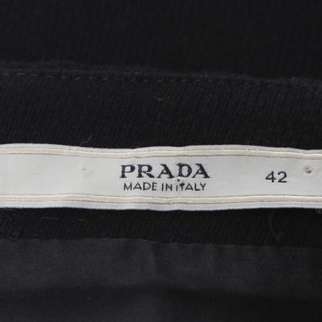 Prada Rock mit Lederbesatz Schwarz Eastbay Billig Großer Verkauf Freies Verschiffen Billig Qualität FTzs5eJ