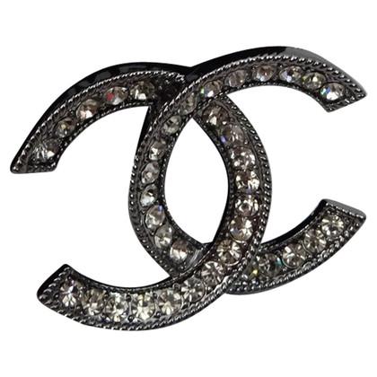 Chanel Brooch with rhinestones