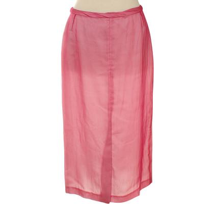 Dries van Noten Zijden rok roze