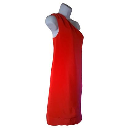 Reiss zijden jurk in Coral Red