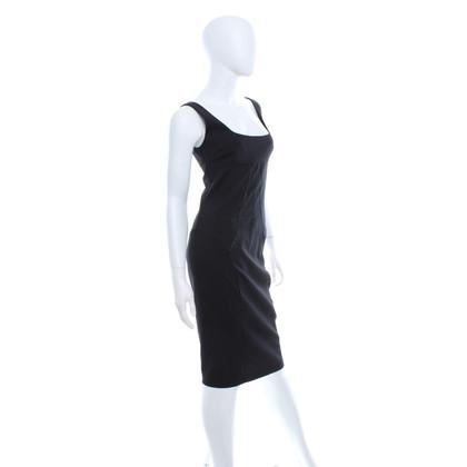 Dolce & Gabbana black shift jurk