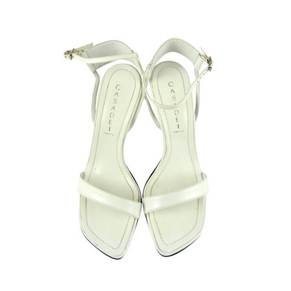 Casadei Sandali bianco in pelle