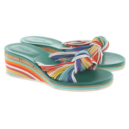 Chloé Pantoletten in Multicolor