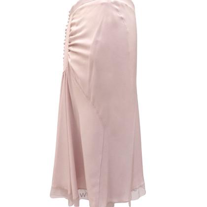 Louis Vuitton Zijden rok met knoppen