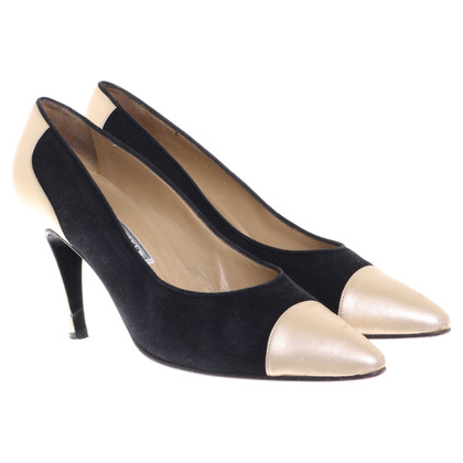 Gianni Versace Pumps in Schwarz/Gold