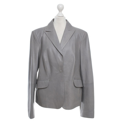 Armani Collezioni Leather Jacket in Gray