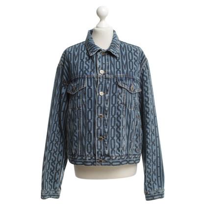 Moschino giacca di jeans in azzurro