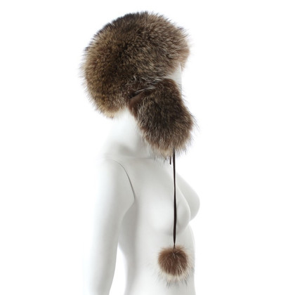 Marc Cain Fur hat with pompom