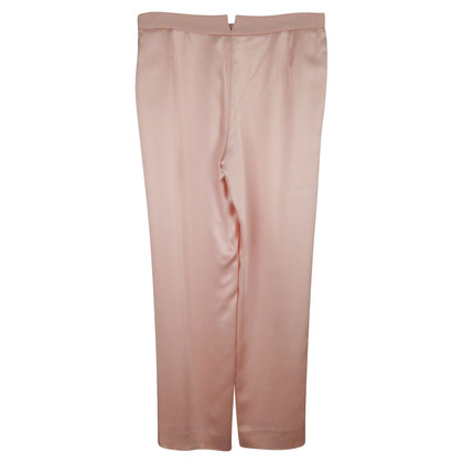 Armani Pantaloni di seta in rosa