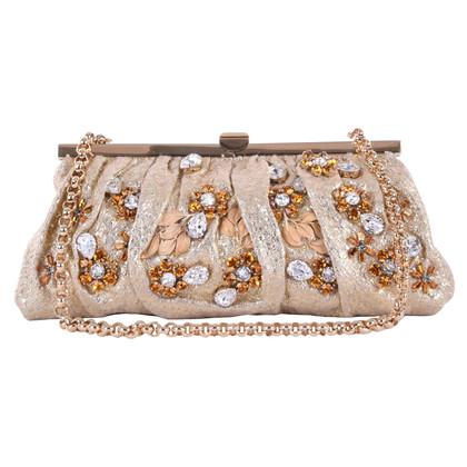 Dolce & Gabbana Brokat-Clutch mit Schmucksteinen