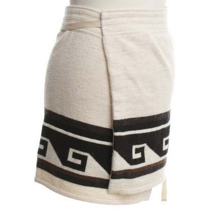 Isabel Marant Wrap skirt with pattern