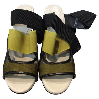 Diesel Black Gold Sandals