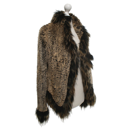 Airfield Fur jacket with pattern