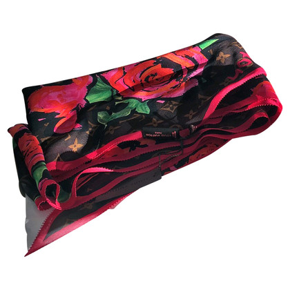 Louis Vuitton silk scarf by Stephen Sprouse