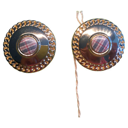 Burberry Clip earrings with diamond pattern