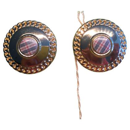 Burberry Clip oorbellen met ruitpatroon