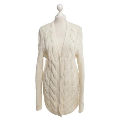 Escada cappotto di maglia in crema