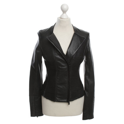 Armani Jeans Leather jacket with Bieseneinsatz
