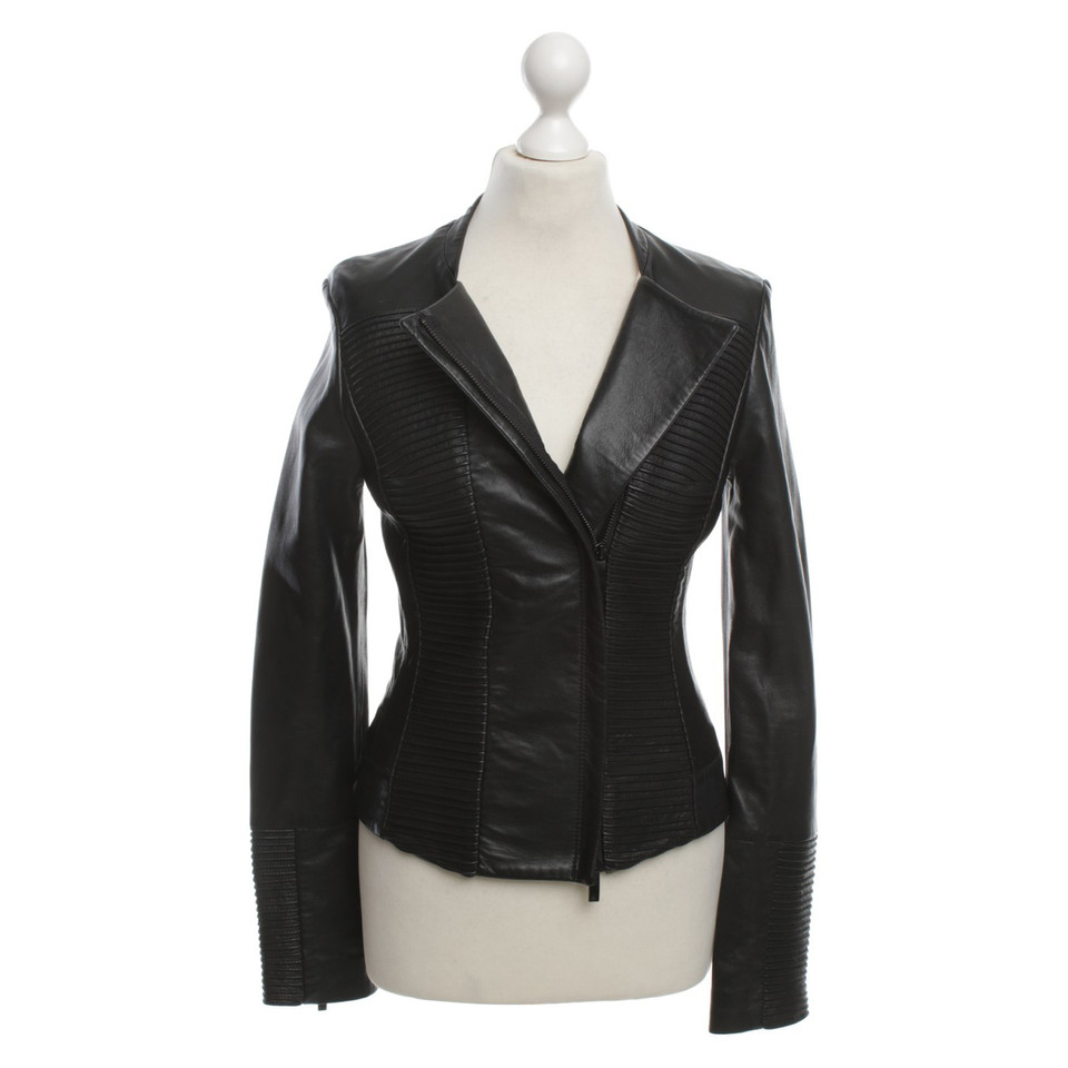 armani jeans veste en cuir avec bieseneinsatz acheter armani jeans veste en cuir avec. Black Bedroom Furniture Sets. Home Design Ideas