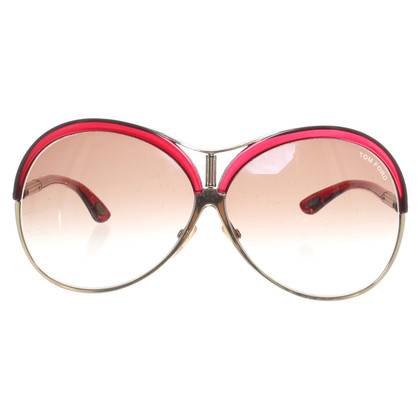 """Tom Ford Sonnenbrille """"Valesca"""" in Rot"""