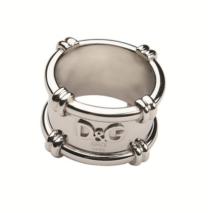 D&G Silberfarbener Ring