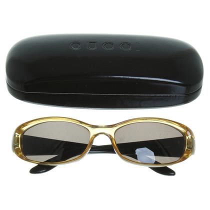 Gucci Gouden bruine zonnebril