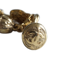 Chanel Gripoix bracelet with angels, coins and glass ball
