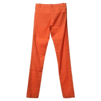 Ann Demeulemeester Broek gemaakt van linnen in oranje