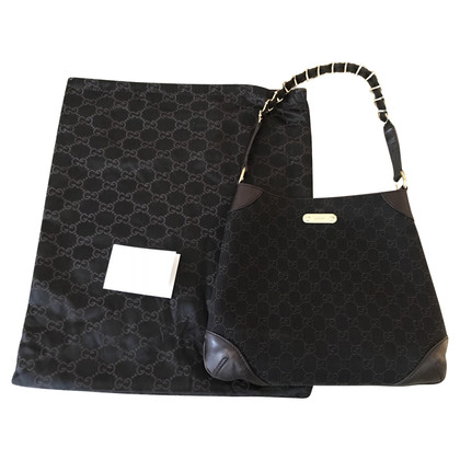 Gucci Borsa in pelle e tessuto monogram