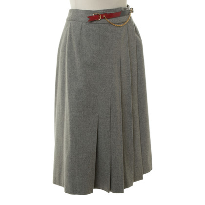 Hermès Pleated skirt in grey