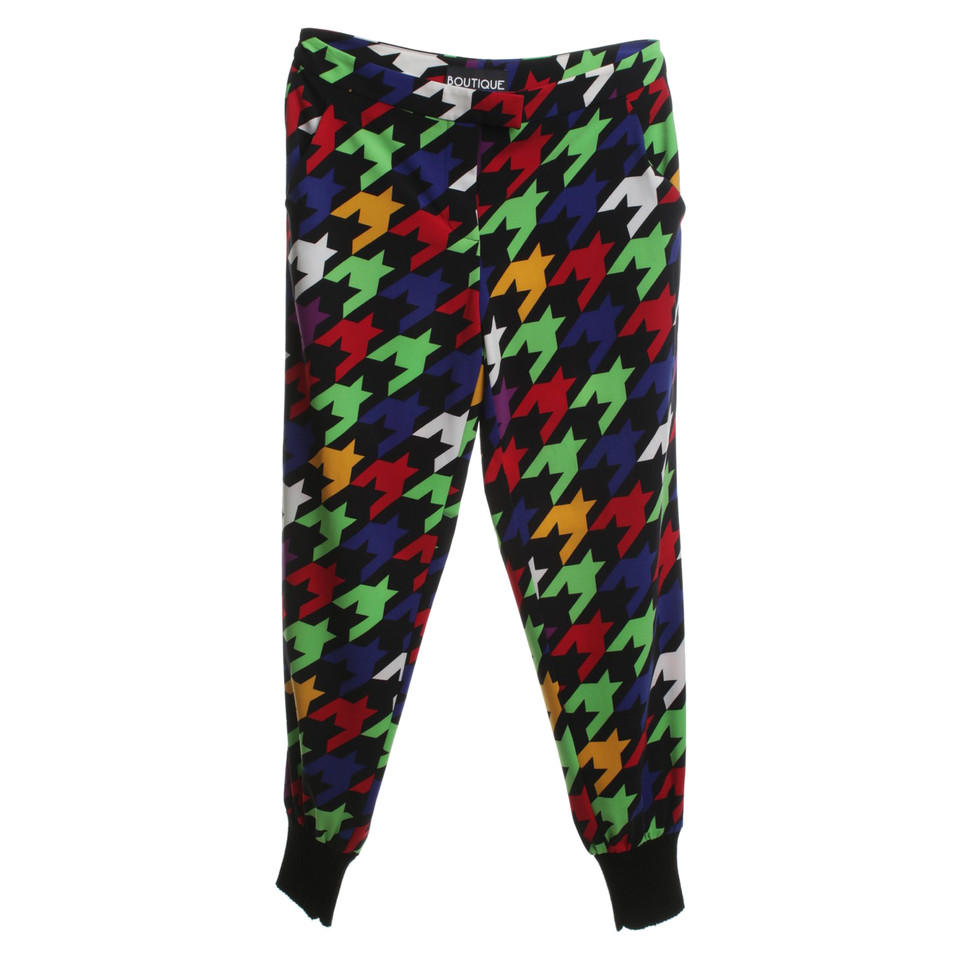 moschino pantalon avec motif pied de poule acheter. Black Bedroom Furniture Sets. Home Design Ideas