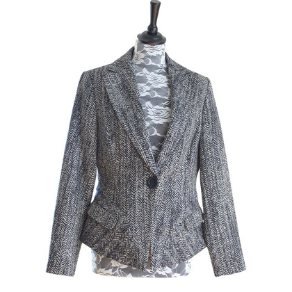 Barbara Schwarzer Blazer with herringbone pattern